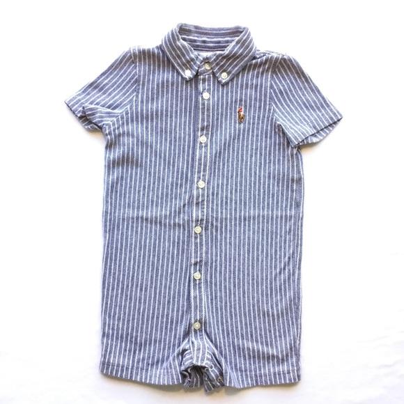 7af1f795a Ralph Lauren One Pieces   Baby Boys Striped Short Romper   Poshmark